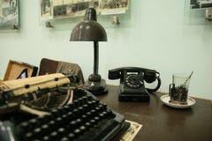 Équipement de vintage de table de secrétaire Photos stock