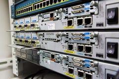 Équipement du réseau actif. images libres de droits