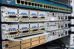 Équipement du réseau actif. photos libres de droits