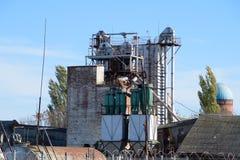 Équipement du vieux terminal de grain photos libres de droits