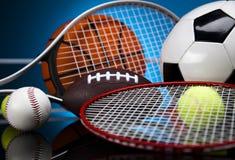 Équipement et boules de sport Photographie stock