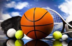 Équipement et boules de sport Images libres de droits