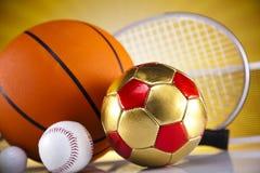 Équipement et boules de sport Photo stock
