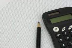 Équipement et calculatrice de dessin Image libre de droits