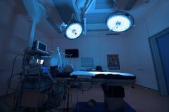 Équipement et dispositifs médicaux dans la salle d'opération moderne images libres de droits