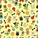 Équipement et enfants de sport Images stock