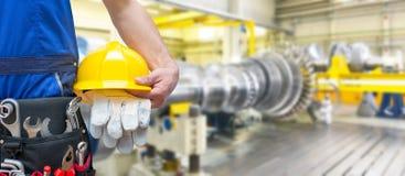 Équipement et outils d'un travailleur en industrie mécanique pour As photos libres de droits