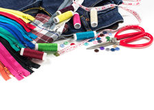 Équipement et tissu pour l'égout Photos libres de droits
