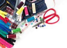 Équipement et tissu pour l'égout Photos stock