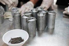 équipement industriel pour le proce fermenté de production de saucisse de proc Images libres de droits
