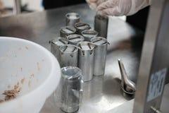 équipement industriel pour le proce fermenté de production de saucisse de proc Photo stock