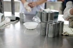 équipement industriel pour le proce fermenté de production de saucisse de proc Photos stock