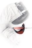 Équipement, masque, gant professionnel et rapière de clôture d'isolement Image libre de droits