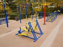 Équipement moderne de forme physique Photo stock