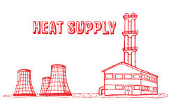 Équipement municipal, chauffage et eau chaude Image libre de droits