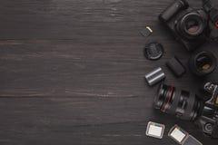 Équipement personnel divers pour le photographe Photos libres de droits