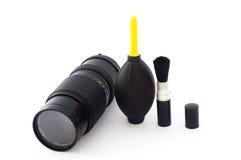 équipement photographique de nettoyage Image stock