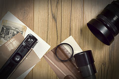Équipement photographique de vintage Images stock