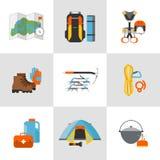 Équipement plat réglé de conception d'icône pour s'élever Photo stock