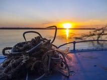 Équipement pochant dans un bateau Photos libres de droits