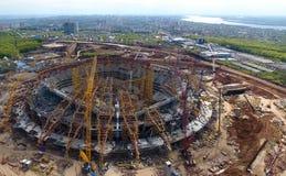Équipement pour la construction du stade image libre de droits