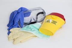 Équipement pour la protection contre le risque biologique photographie stock libre de droits