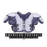 Équipement pour le football américain Photographie stock libre de droits
