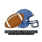 Équipement pour le football américain Photos stock