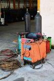 Équipement pour le gaz et le soudage électrique Photos libres de droits