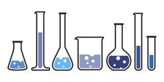 Équipement pour le laboratoire chimique Photos stock
