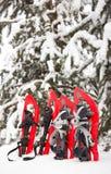 Équipement pour une hausse pendant l'hiver Photographie stock
