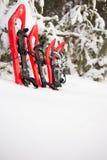 Équipement pour une hausse pendant l'hiver Photos libres de droits