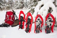 Équipement pour une hausse pendant l'hiver Photos stock