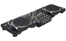 Équipement professionnel du DJ de table Photo stock