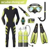 Équipement réaliste de naviguer au schnorchel et de plongée à l'air Vitesse de plongée à l'air d'isolement Wetsuit de plongeur, m Image stock