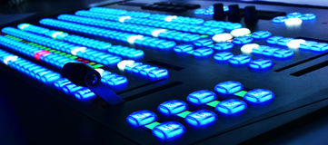 Équipement visuel de mélangeur de télévision Image libre de droits