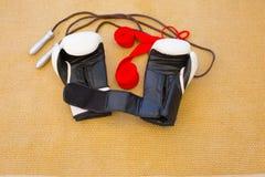 Équipements de boxe Images stock