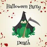 Équipements de costume de mode de crapauds de vert de Halloween Illustration de vecteur de style de bande dessinée d'isolement illustration libre de droits