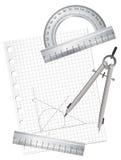 Équipements de dessin techniques Photos stock