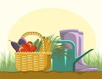 Équipements de jardinage Photographie stock
