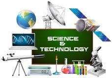 Équipements de la science et technologie illustration libre de droits