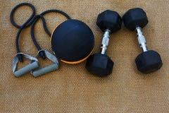 Équipements de séance d'entraînement Photos stock