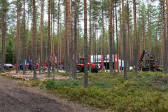 Équipements lourds de Volvo et de Nisula images libres de droits