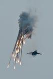 Équipes acrobatiques aériennes de la parole dans le MAKS 2011 Photographie stock libre de droits