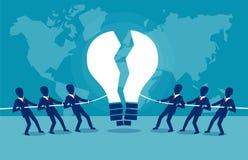 Équipes d'affaires luttant pour l'idée illustration libre de droits