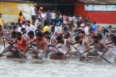 Équipes de bateau de serpent Image libre de droits