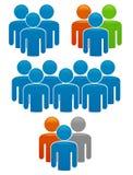 Équipes et individualité dans la durée de corporation Illustration de Vecteur