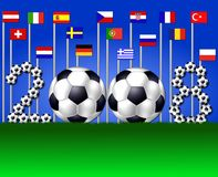 Équipes nationales 2008 Images libres de droits