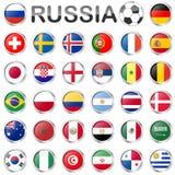 Équipes nationales russes de jeu de football Photographie stock libre de droits