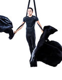 Équipez accrocher en soie aérienne, d'isolement sur le blanc Photos libres de droits
